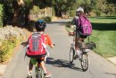 Biking to School By Themselves