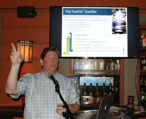 Rob White discusses the Gasifier at JumpStart Davis in October