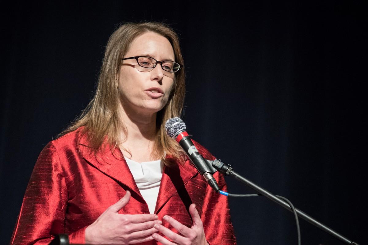 Natasha Minsker delivers the Keynote Speech at Davis MLK Day
