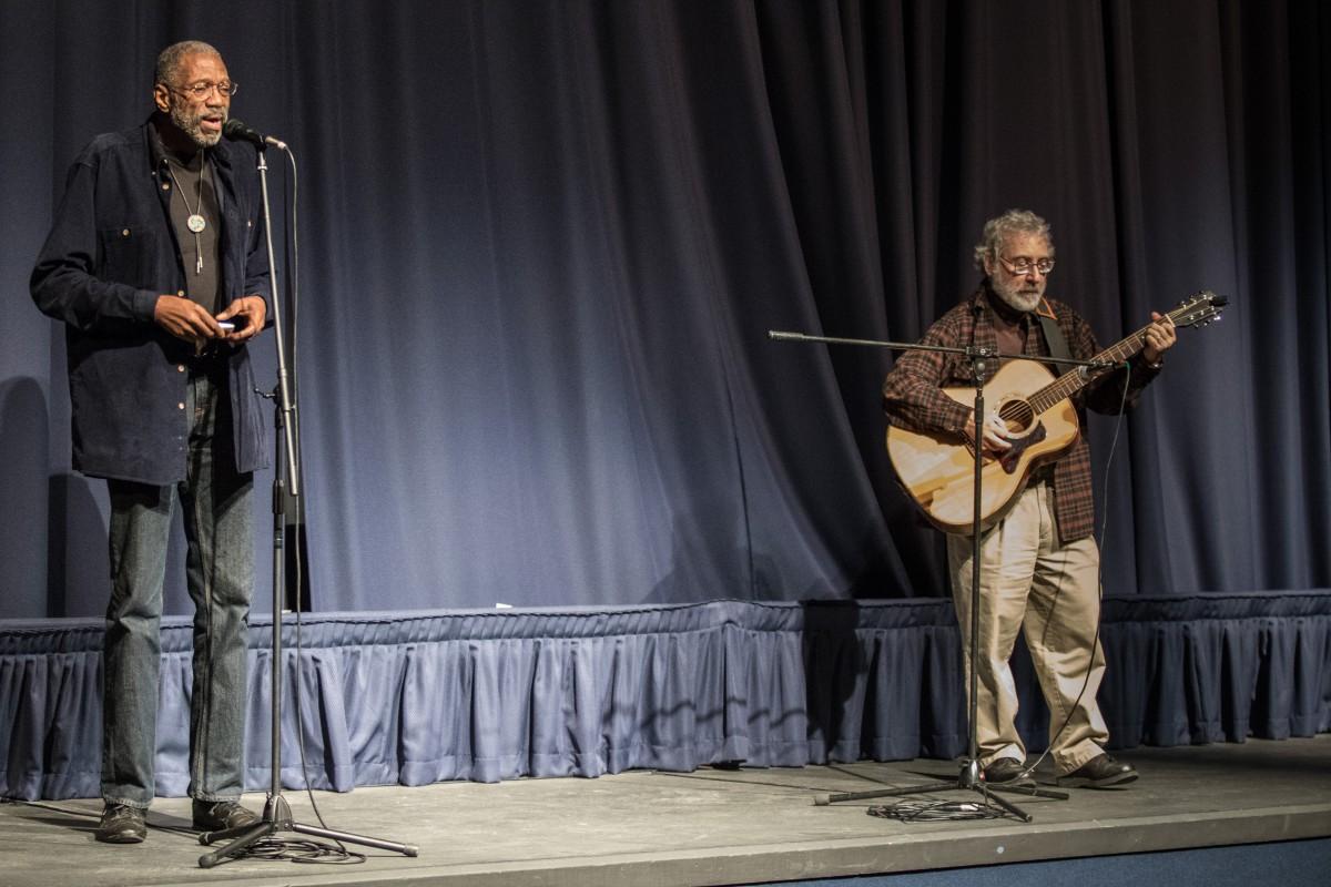 James Williams singing and Ron Goldberg on guitar