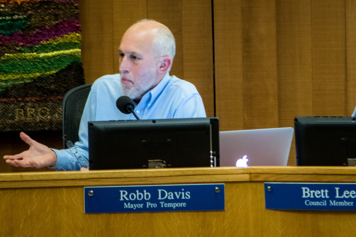 Mayor Pro Tem Robb Davis lays out a long list of considerations