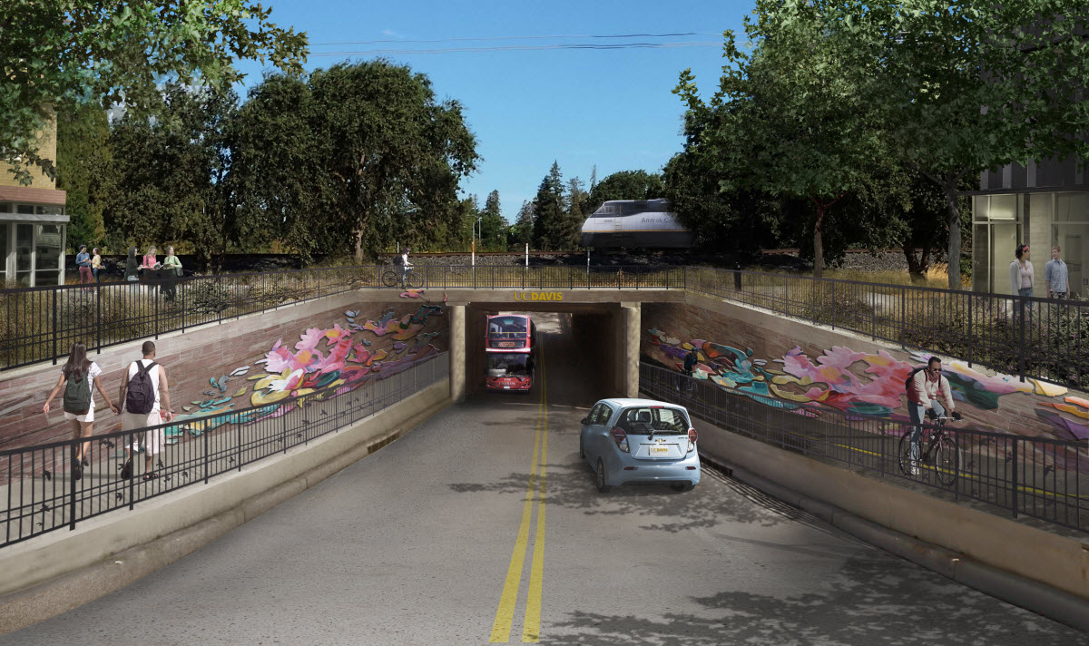 Proposed Nishi Underpass leading to campus through the Nishi project