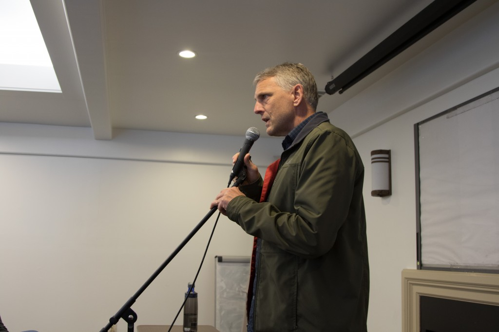 Tim Ruff addressing questions on Saturday