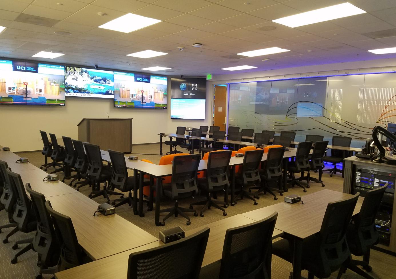 UCI Applied Innovation conference room, Davis Enterprise