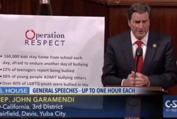 Garamendi Delivers Speech on House Floor on the Epidemic of Bullying