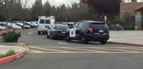 Police Cars at Montgomery Elementary on Tuesday