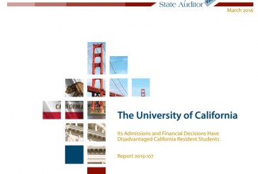 State Audit Slams Out of State UC Student Strategy