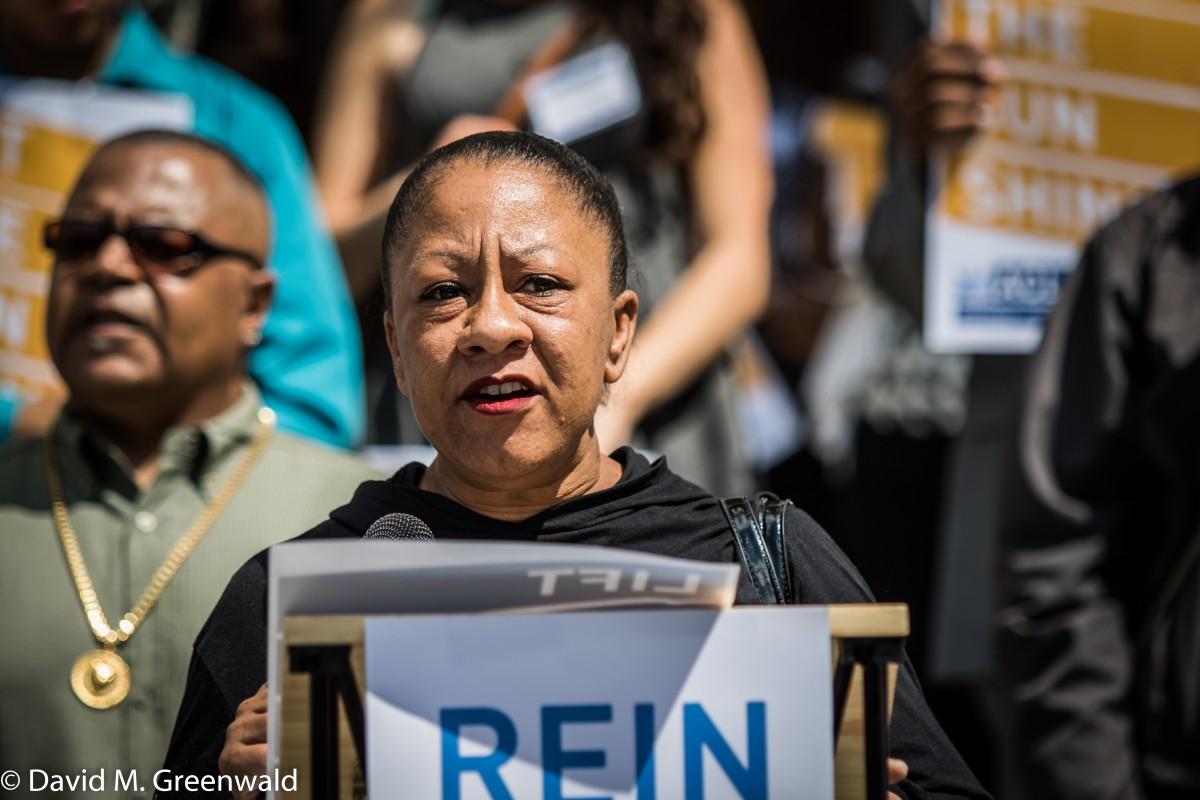 Tanya Faison of the Sacramento Chapter of Black Lives Matter