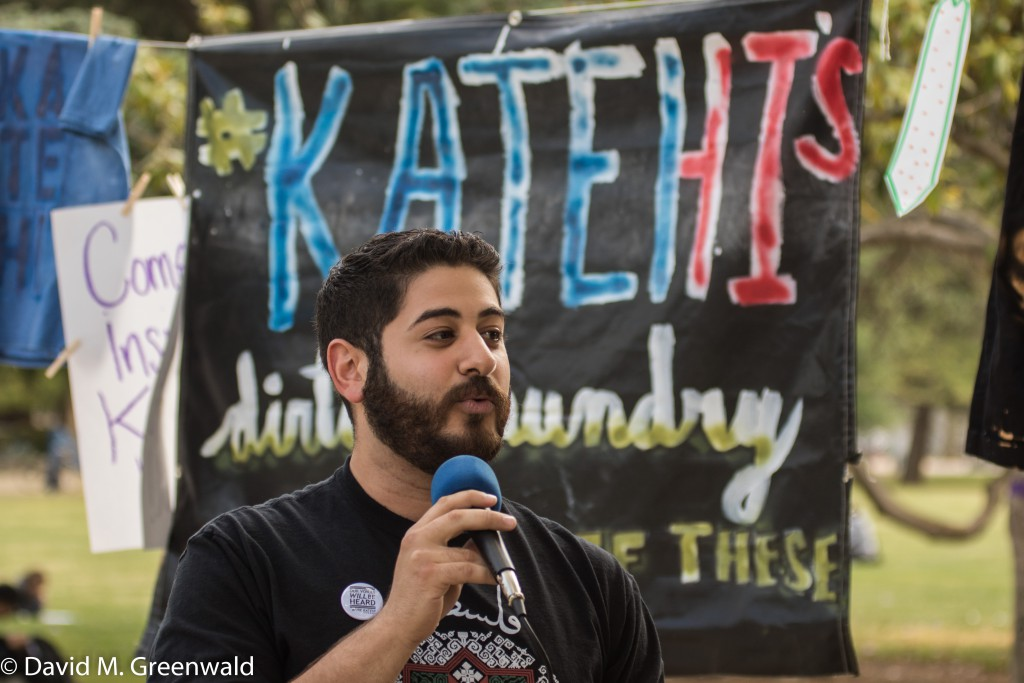 Student Protesters were calling on the firing of Chancellor Katehi on Wednesday prior to the announcement