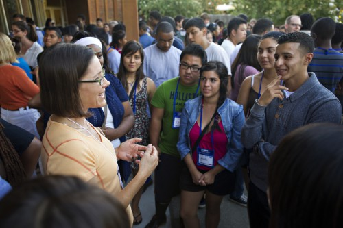 The UC Davis' Special Transitional Enrichment Program (STEP) held a Fireside Chat with Faculty event at Giedt Hall on August 22, 2012.