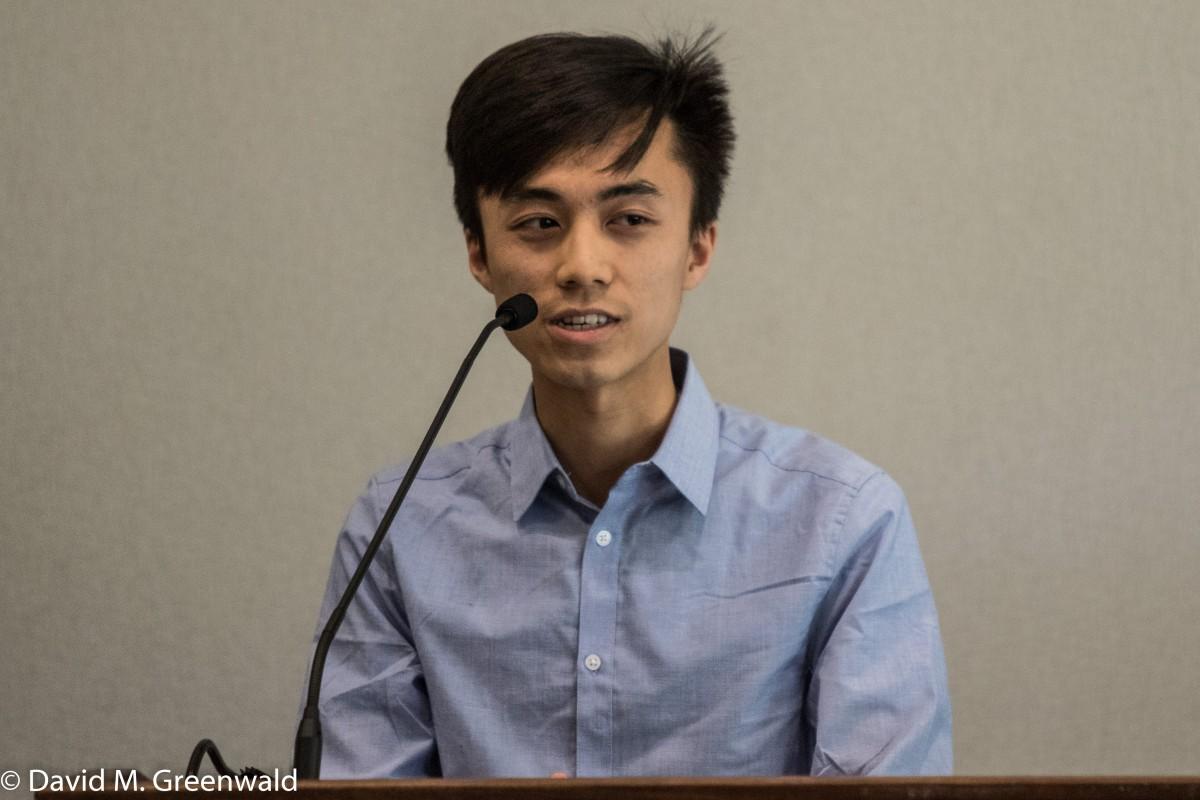 ASUCD President Alex Lee