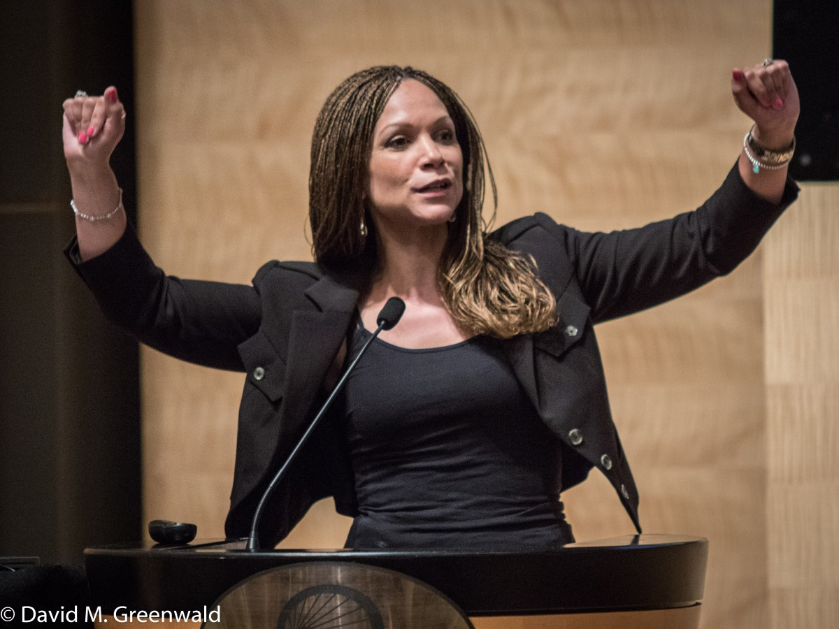Melissa Harris-Perry delivers the keynote address at the 2016 Justice Summit in San Francisco