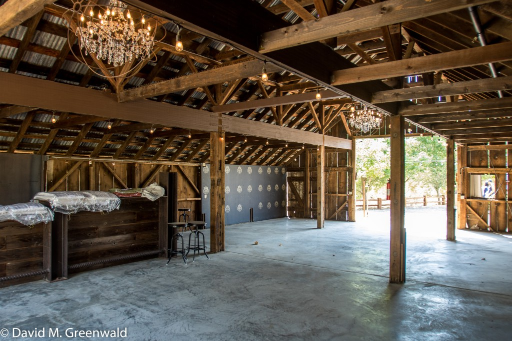 The barn or covered event portion