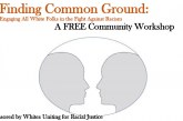 FREE Community Workshop: Finding Common Ground