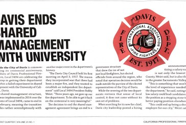 Davis Firefighters Celebrate End of Shared Management