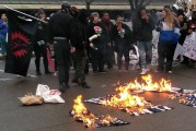 Protestors Rally, 'Blue Lives Matter' Flags Torched after Decision to Not Charge Officers Who Killed Unarmed Sacramento Man