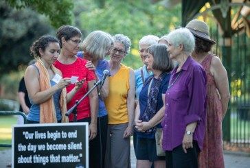 Lights for Liberty Draws 250 People to Central Park Protesting Concentration Camps