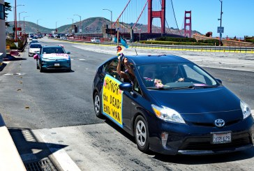 SF Memorial Day Car Protest Targets Senator, 'Serious Failures of U.S. Foreign Policy'