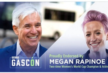 Soccer Champ Megan Rapinoe Endorses Police Reformer George Gascón for LA District Attorney