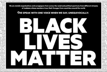Majority of American Jews Sign Full Page NYT Ad – 'Unequivocally: Black Lives Matter'