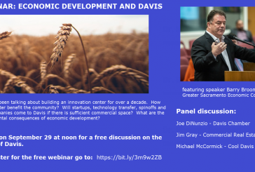 Webinar: Economic Development and Davis – Tomorrow at Noon
