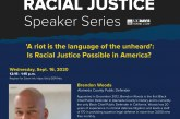 UC Davis Law's Racial Justice Speaker Series Commences, Inspirational Talk Given by Chief Public Defender Brendon Woods