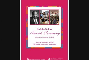 Dr. John Rice Awards for Diversity, Equity and Student Success Awarded to the College of Marin and Pasadena City College