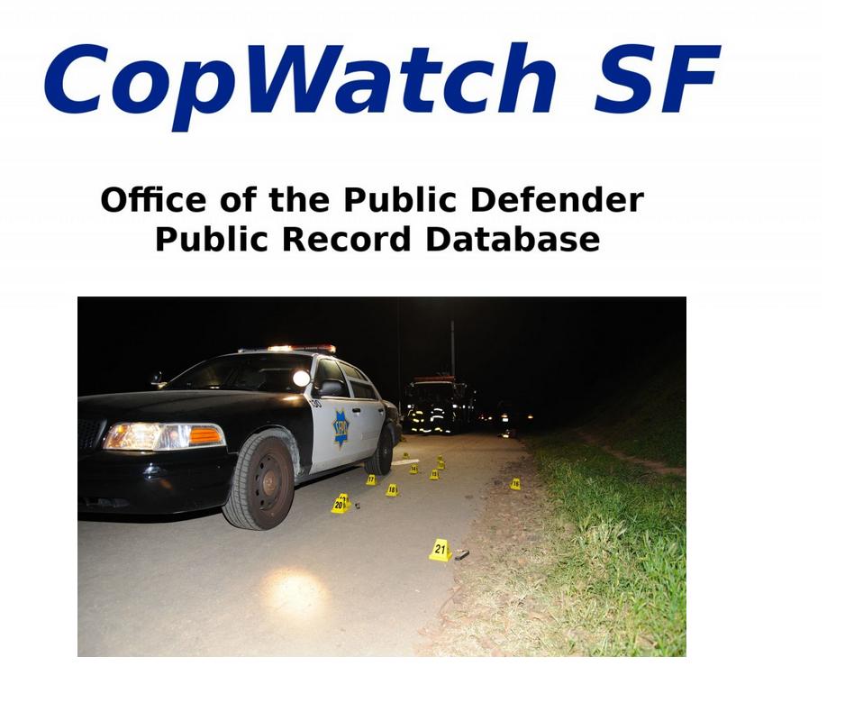 Cop Watch SF.
