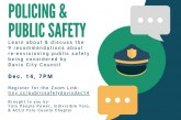 Civic Groups Host Community Conversation on Public Safety Recommendations