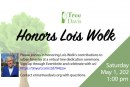 Tree Davis Will Honor Lois Wolk May 1st at 1 PM