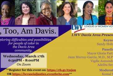 League of Women Voters Present Social Justice Forum: I, Too, Am Davis