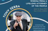 Vanguard Webinar: Featuring Special Guest Tony Serra (July 13)