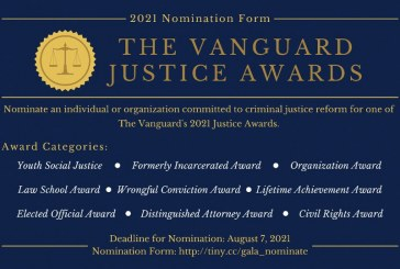 Nominations – Tickets – Sponsors – for the Vanguard Justice Awards!