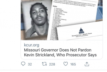 My View: Unequal Justice Under the Law – Missouri Governor Chooses Politics Over Justice