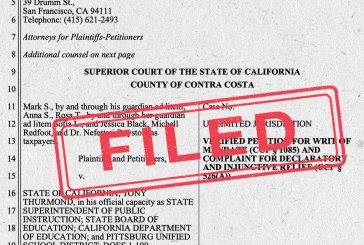 ACLU Files Suit in Pittsburg, CA, Alleging Black, English Learners and Disabled Students Denied Constitutional Right to Public Education